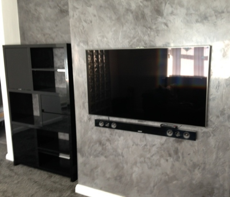 Grey Spatulata Classic style living room by Daniel Polished Plaster Interiors Classic
