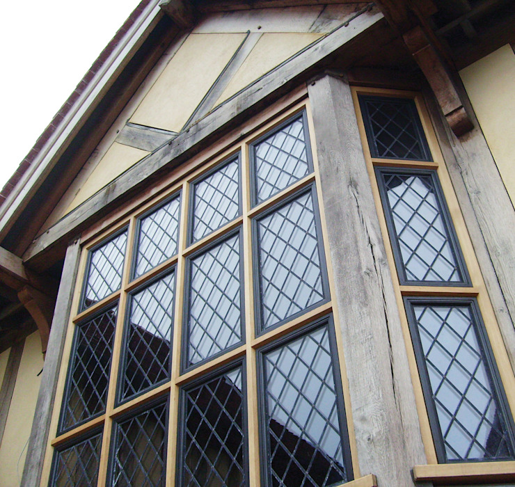 Advanced Bronze Casements in Timber Subframes Architectural Bronze Ltd Windows & doorsWindows Metal Black