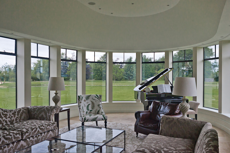 Advanced Bronze Casements in Curved Music Room Architectural Bronze Ltd Windows & doorsWindows Metal Black
