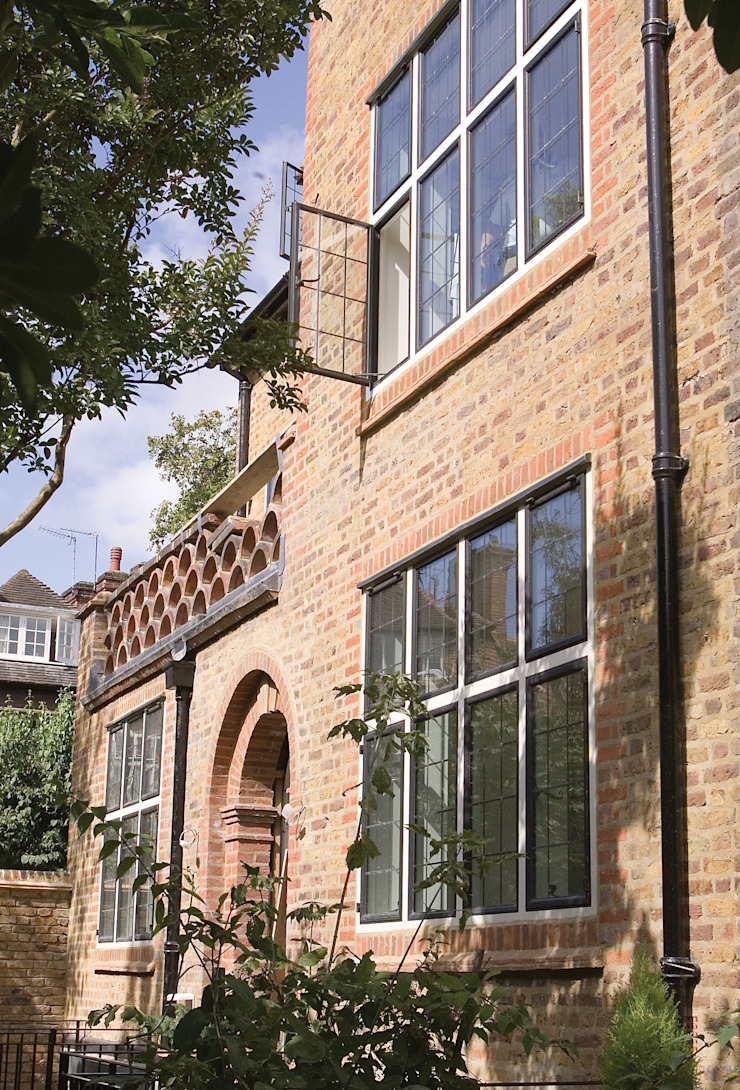 London Townhouse with Advanced Bronze Casements Architectural Bronze Ltd Windows & doorsWindows Metal Black
