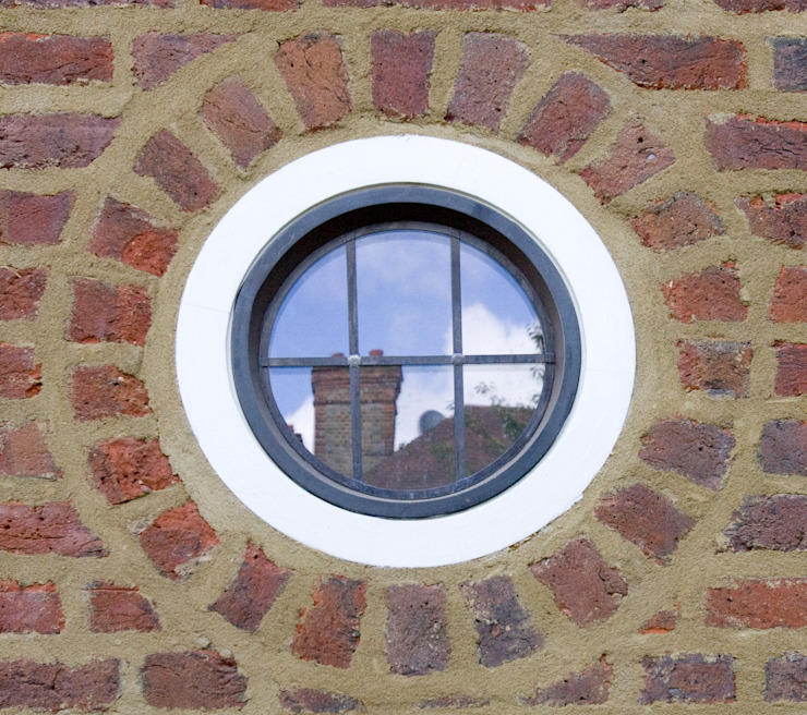 Round Leaded Heritage Bronze Casements Architectural Bronze Ltd Finestre & PortePorte Metallo Nero
