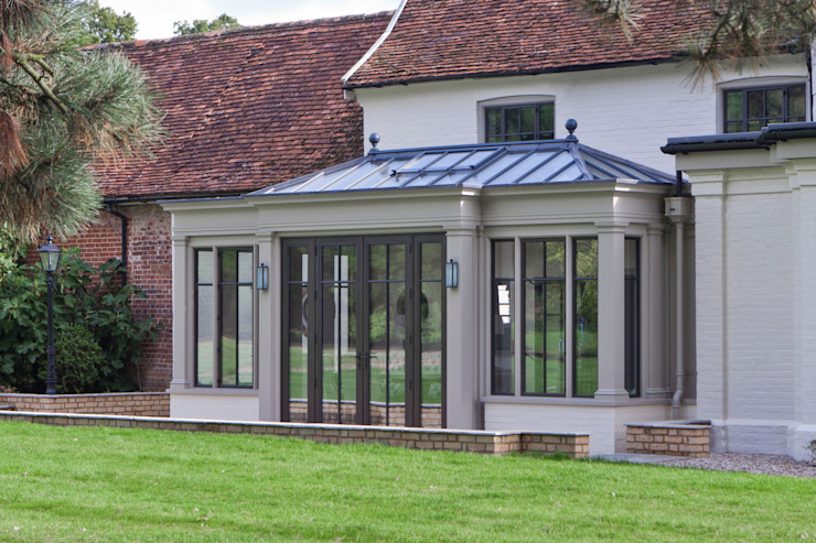 Orangery with Double Clad Bronze Doors Architectural Bronze Ltd Finestre & PortePorte Metallo Nero