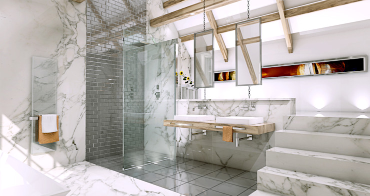 Loft bathroom Modern style bathrooms by homify Modern