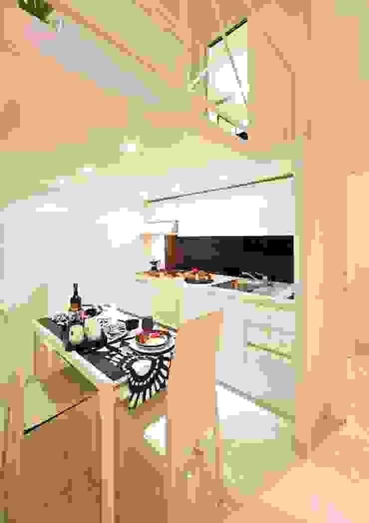 Kitchen and dining area Case moderne di Pavart SRL Moderno
