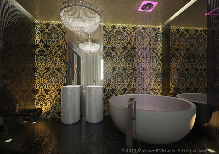 Eclectic style bathroom by Atelièr di progettazione Eclectic