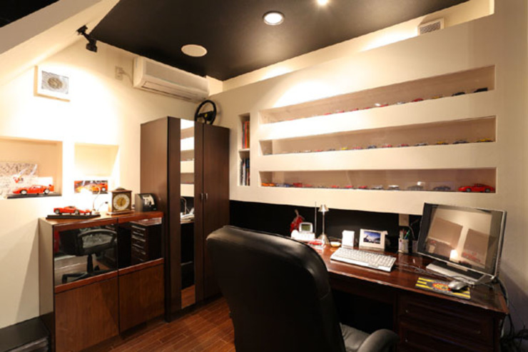 Eclectic style study/office by イデア建築デザイン事務所 Eclectic
