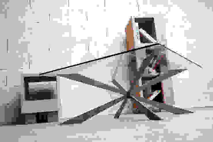 Table basse béton ciré (concrète coffee table) par Auzier design studio