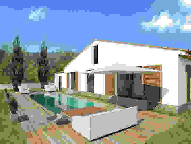 Maison individuelle, Saint-Tropez (83), 2014 - Réhabilitation - 100 m² Maisons méditerranéennes par ERIC SANTOS • ARCHITECTURE Méditerranéen