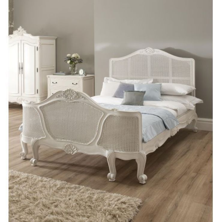 La Rochelle Rattan Antique French Bed: classic  by Homesdirect365, Classic