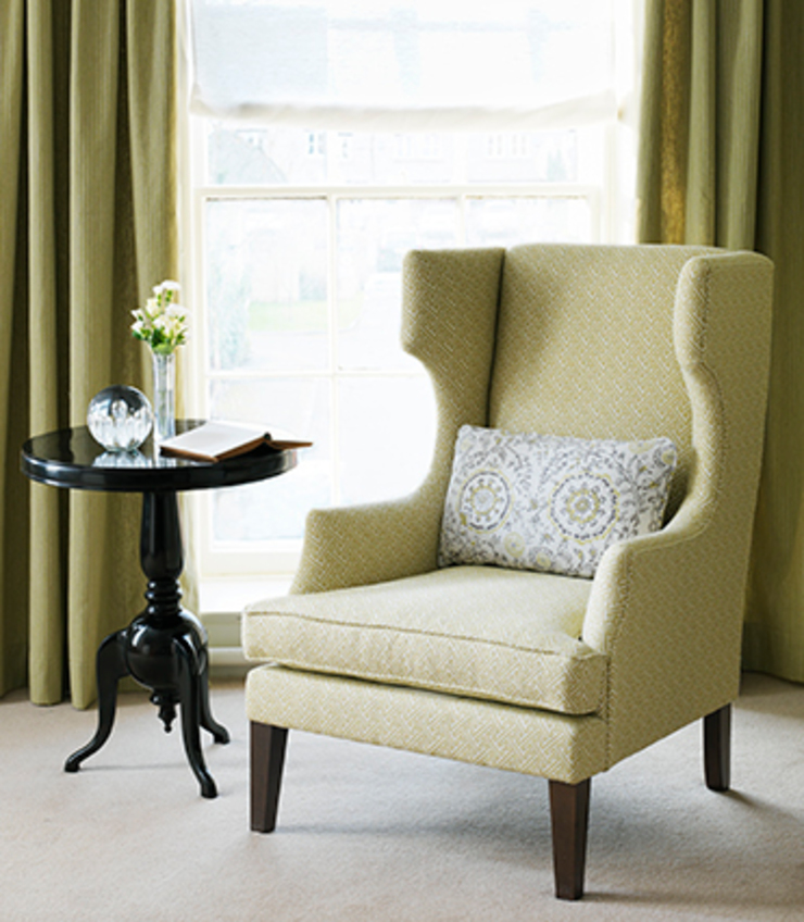 Taynton wing chair by Wesley-Barrell Eclectic