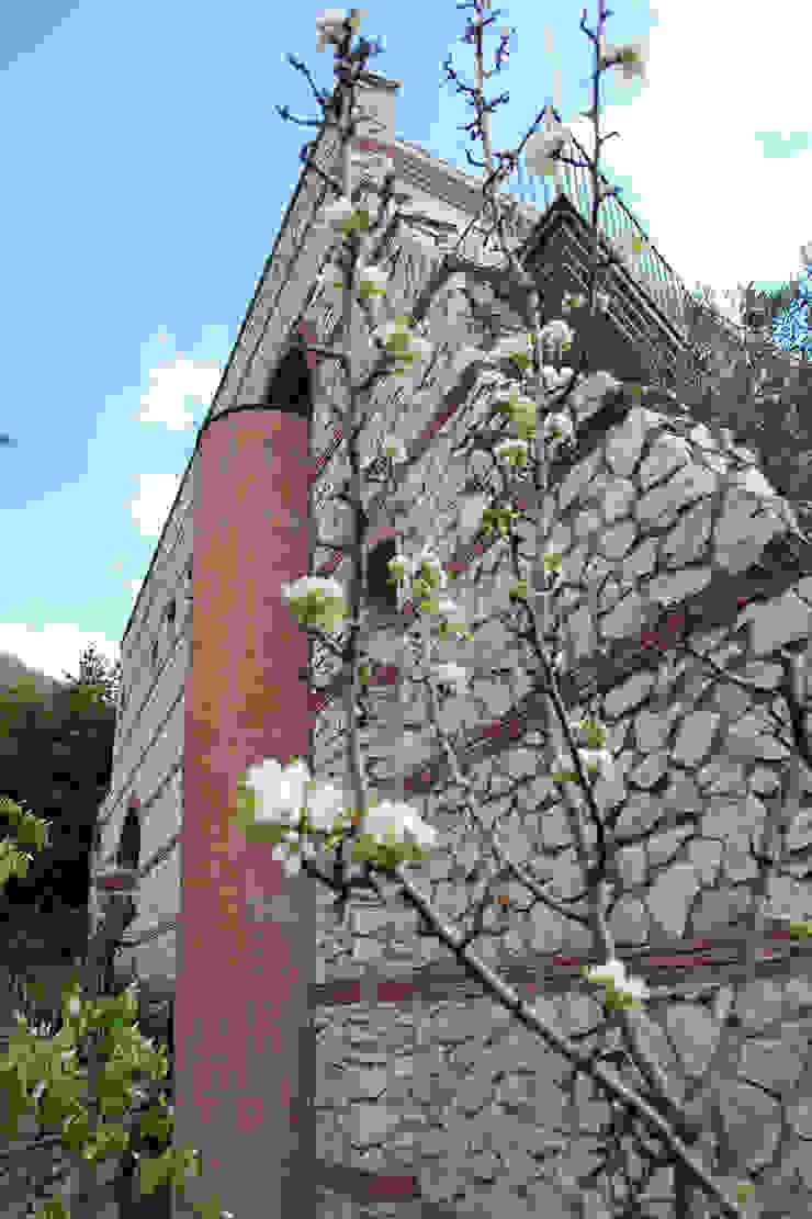 Il muro Case moderne di MARTINI RUGGERI & PARTNERS Moderno
