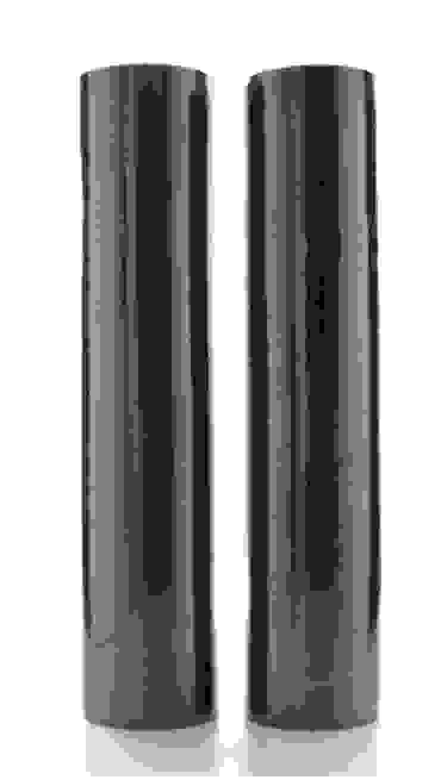 vaso tube nero ceramica di passione creativa