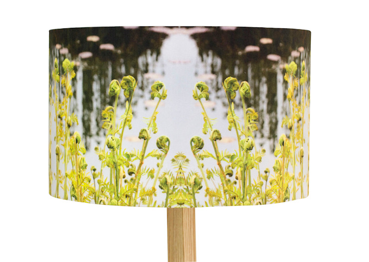 Handmade Fern Lampshade and Rubberwood Floor Lamp: modern  by For All We Know , Modern