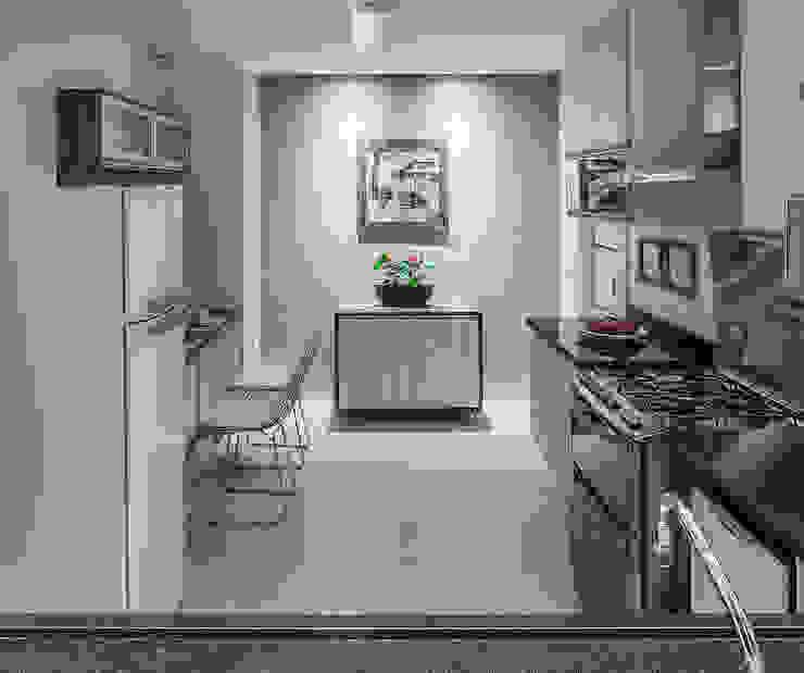 Cozinha integrada Nhà bếp phong cách hiện đại bởi Lúcia Vale Interiores Hiện đại