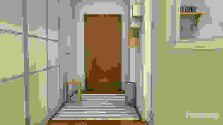 El nuevo piso de Christina y su familia Pasillos, vestíbulos y escaleras de estilo escandinavo de Diseñadora de Interiores, Decoradora y Home Stager Escandinavo