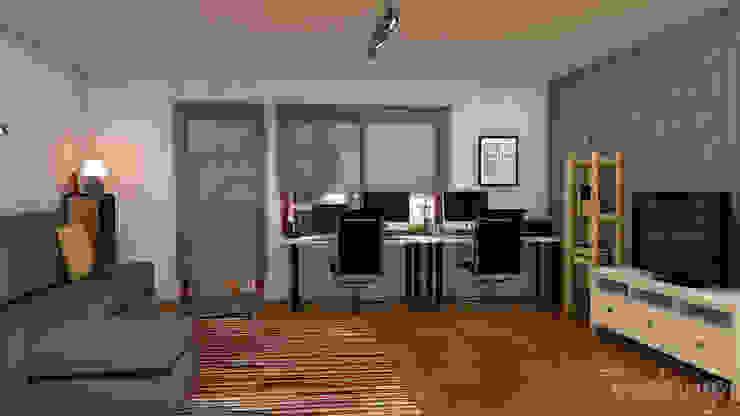 El nuevo piso de Christina y su familia Salones de estilo escandinavo de Diseñadora de Interiores, Decoradora y Home Stager Escandinavo
