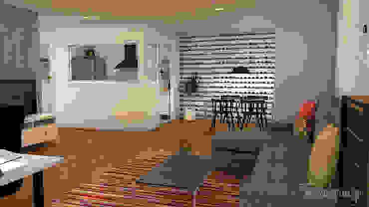 El nuevo piso de Christina y su familia Comedores de estilo escandinavo de Diseñadora de Interiores, Decoradora y Home Stager Escandinavo