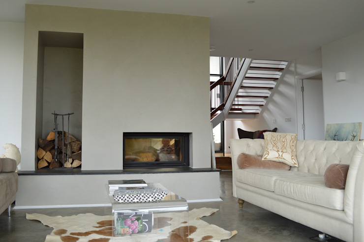 A Dual Aspect Fireplace ArchitectureLIVE