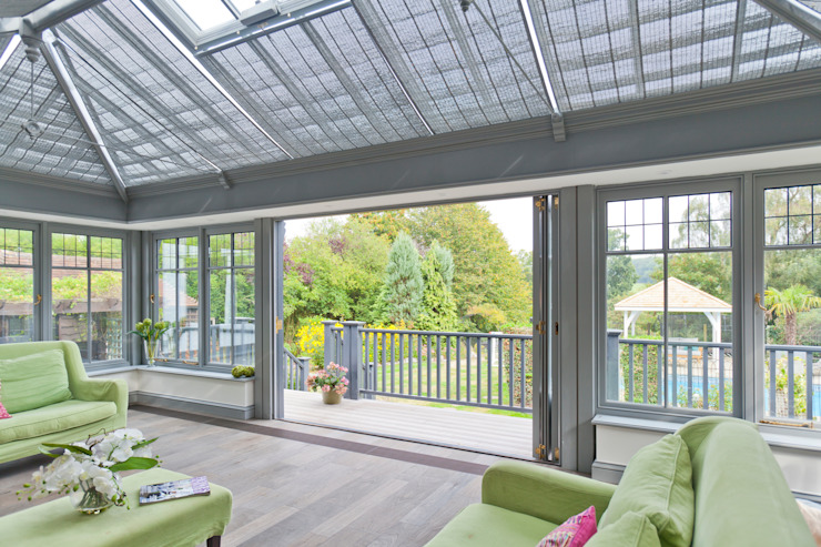 Living Room Conservatory with Veranda Giardino d'inverno moderno di Vale Garden Houses Moderno