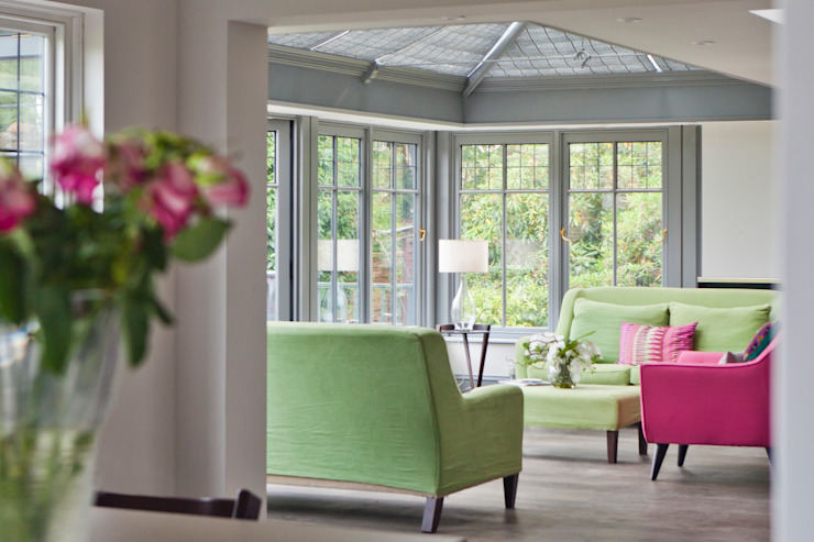 Living Room Conservatory with Veranda Modern conservatory by Vale Garden Houses Modern