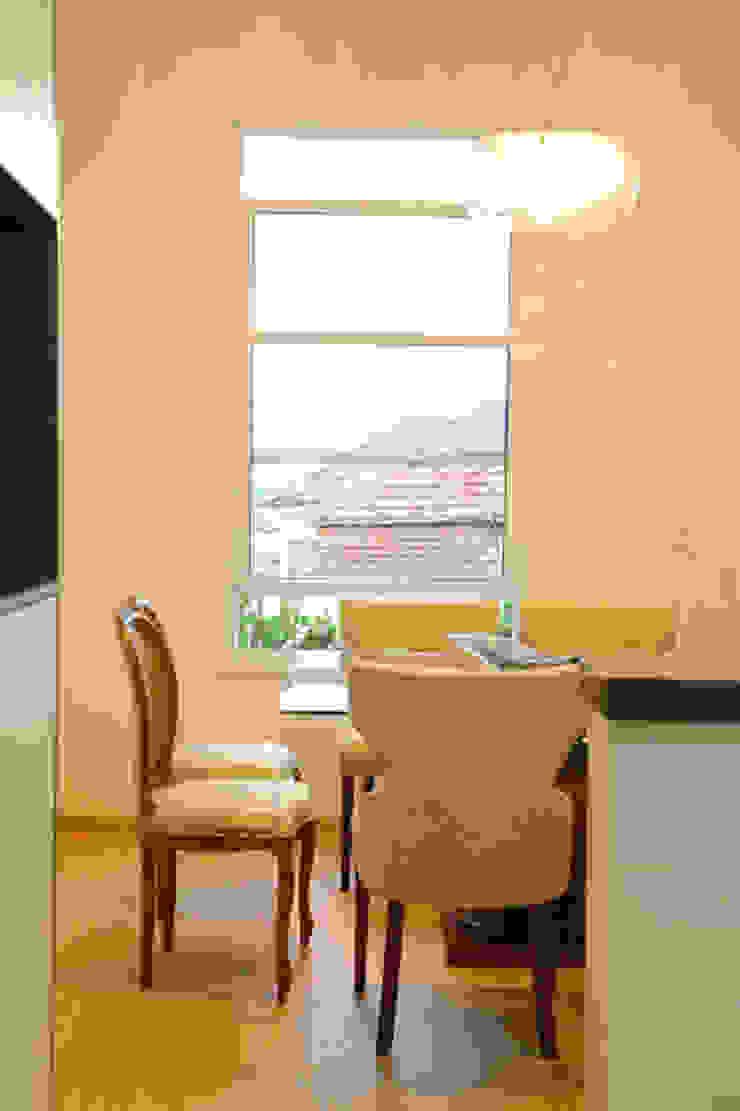 Casa nova, bairro antigo Salas de jantar campestres por Fernanda Chiebao- ARCHI Campestre