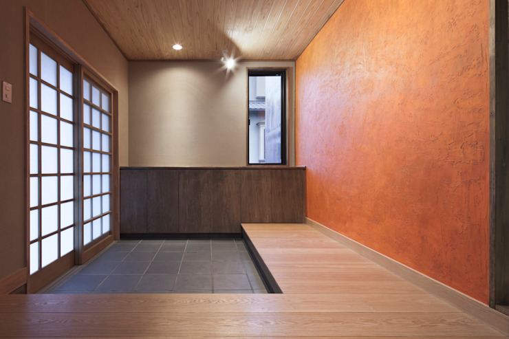 D-house entrance 和風の 玄関&廊下&階段 の Ground Design Co,. Ltd. 和風