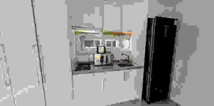 Modern kitchen by 큐브디자인 건축사사무소 Modern