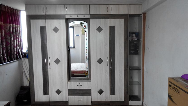 interiors works Modern style bedroom by ajinkyainteriors Modern