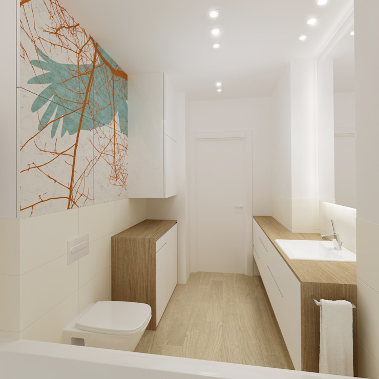 Baños modernos de dziurdziaprojekt Moderno