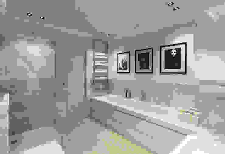 172m, Wola, Wwa Minimalistyczna łazienka od dziurdziaprojekt Minimalistyczny