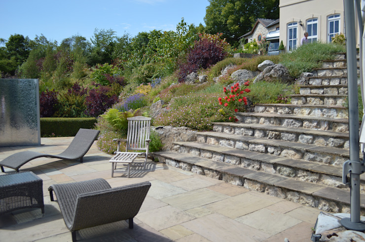 Stone Steps Country style garden by Unique Landscapes Country