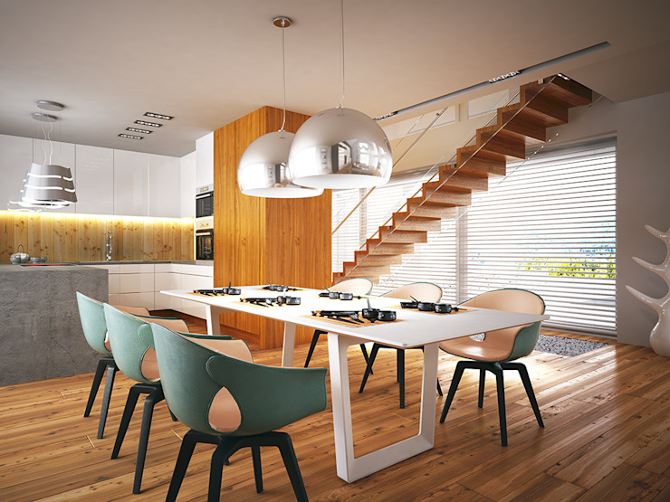 Modern dining room by LK & Projekt Sp. z o.o. Modern