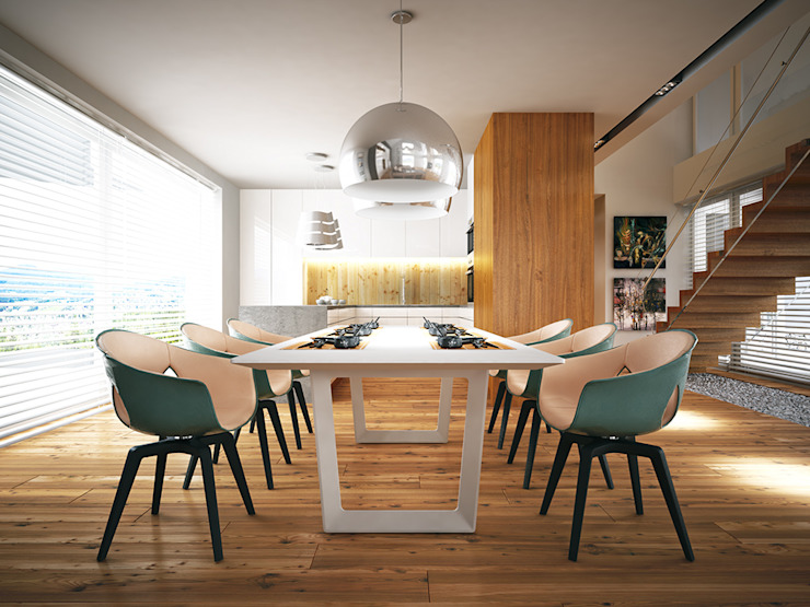 Dining room by LK & Projekt Sp. z o.o.