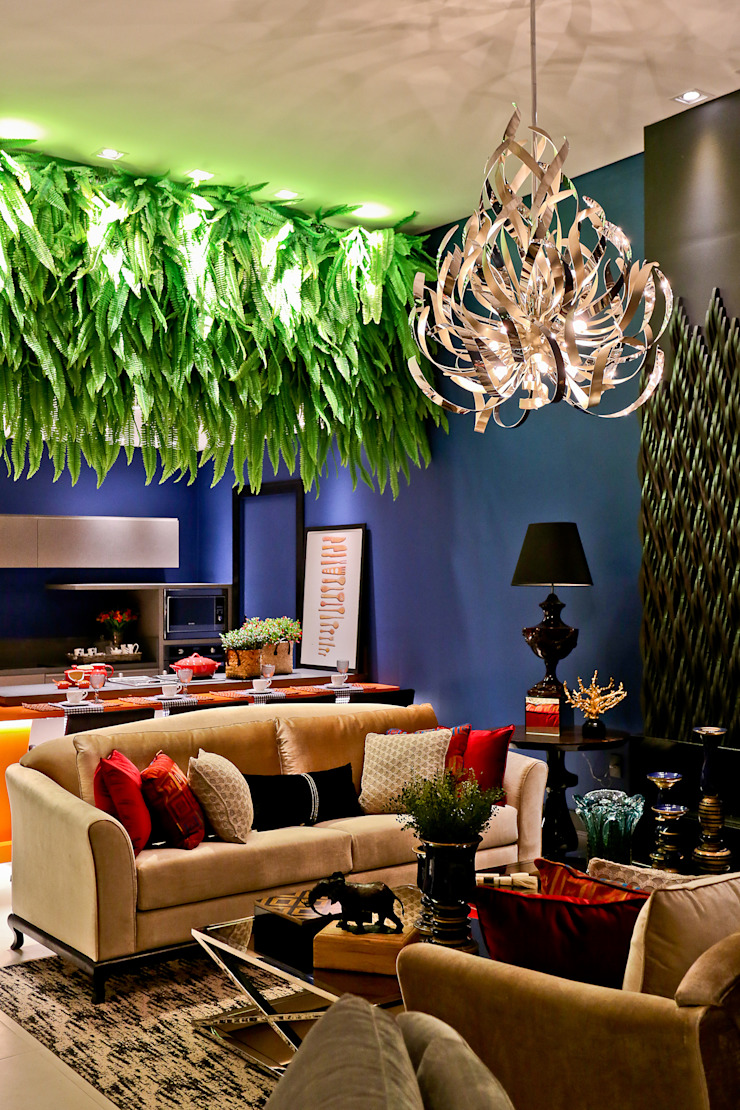 Eclectic style living room by Daniela Vieira Arquitetura Eclectic