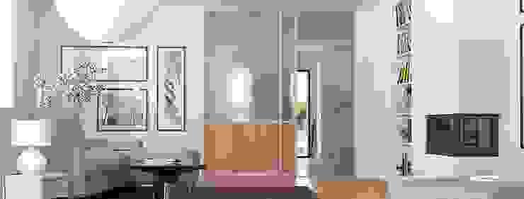 Glasschiebetür als Raumteiler: modern  von homify,Modern