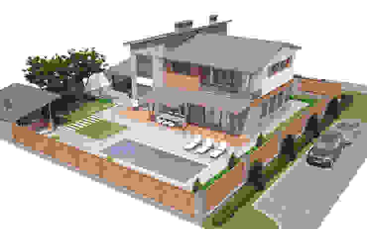 Частный дом для молодой семьи «PUZZLE HOUSE» Дома в стиле минимализм от studio forma Минимализм