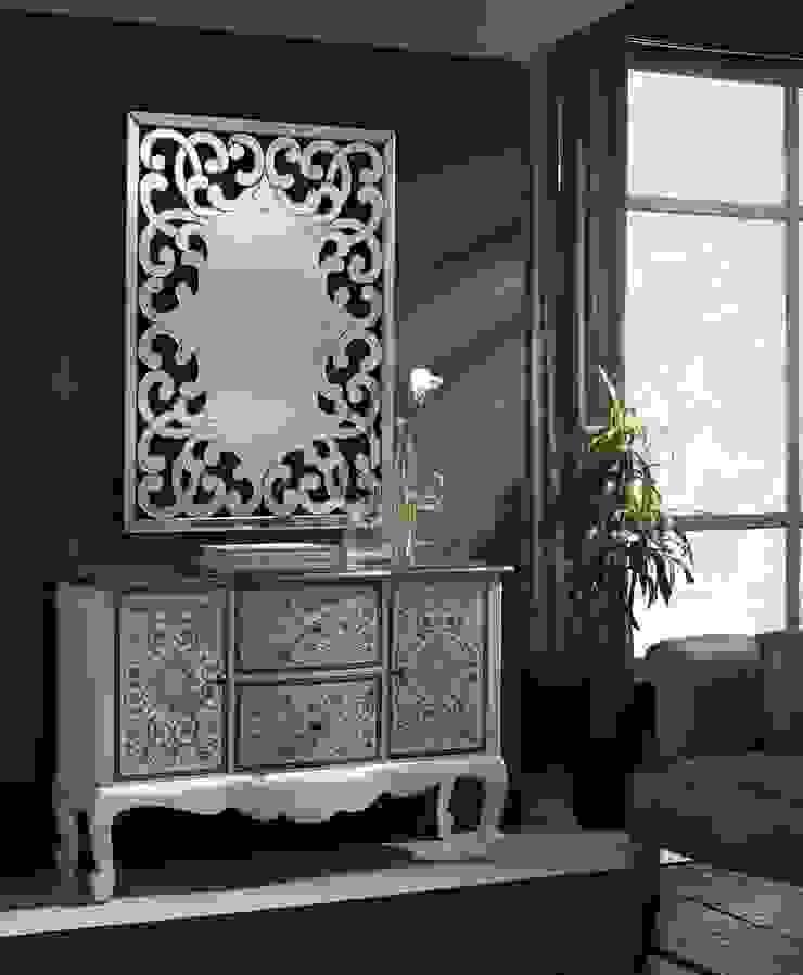 Espejo Clásico de Cristal Dorian de Ámbar Muebles Clásico
