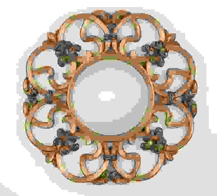 Espejo Redondo Oro de Ámbar Muebles Clásico