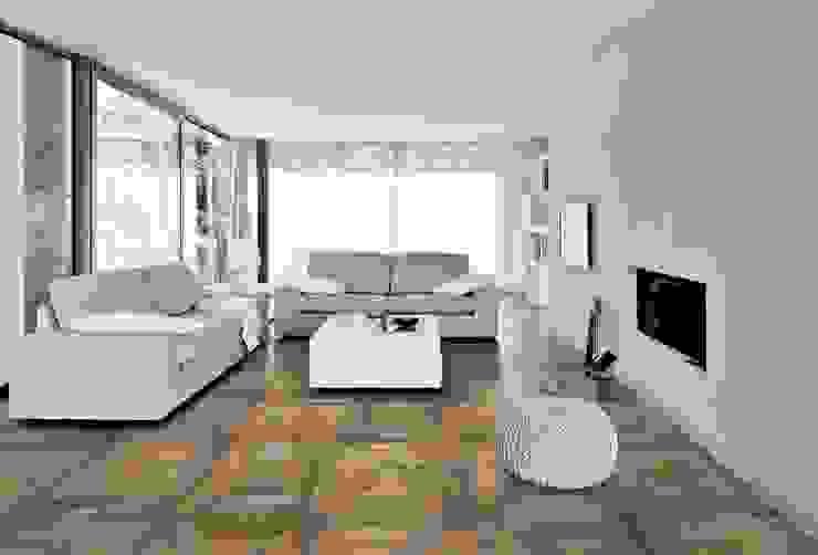 Plaza Yapı Malzemeleri – Marküteri (Rustik):  tarz Oturma Odası