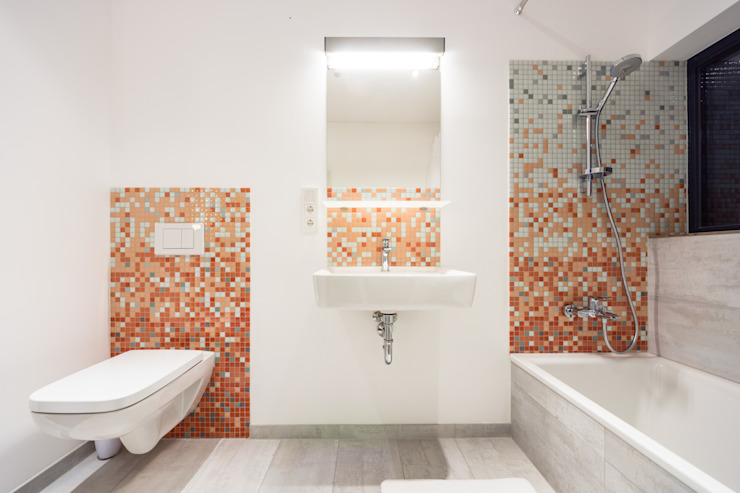 Collage Cubes - Duplex in Malchen, Germany Modern Banyo Helwig Haus und Raum Planungs GmbH Modern