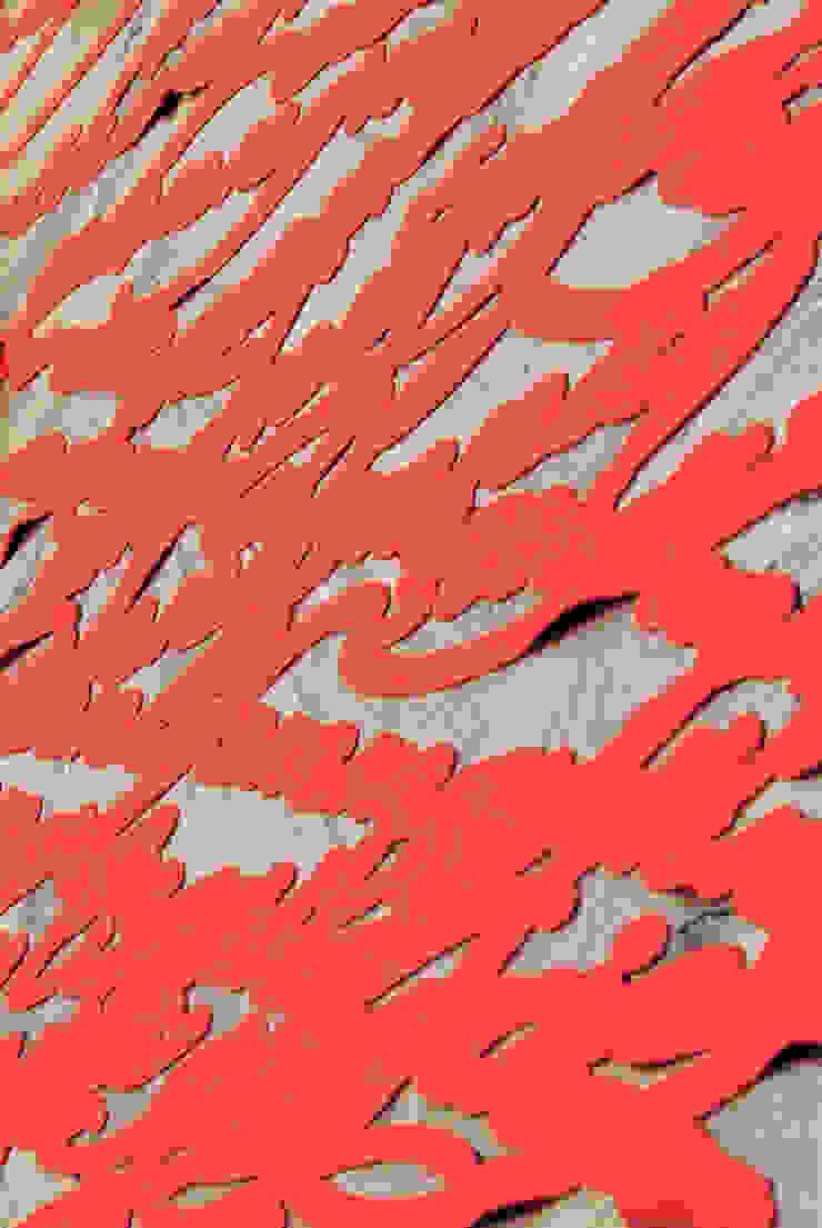 Pattern Speech rosso di Camilla Fucili Design Moderno