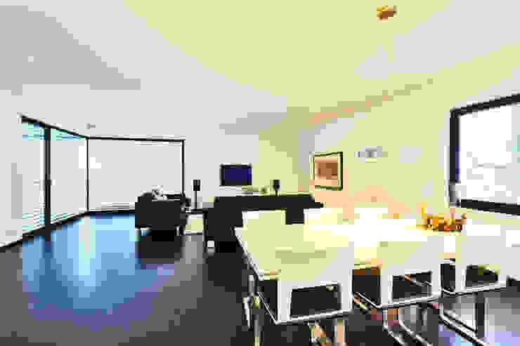 Haus Z - Einfamilienwohnhaus in Seeheim Moderne Wohnzimmer von Helwig Haus und Raum Planungs GmbH Modern