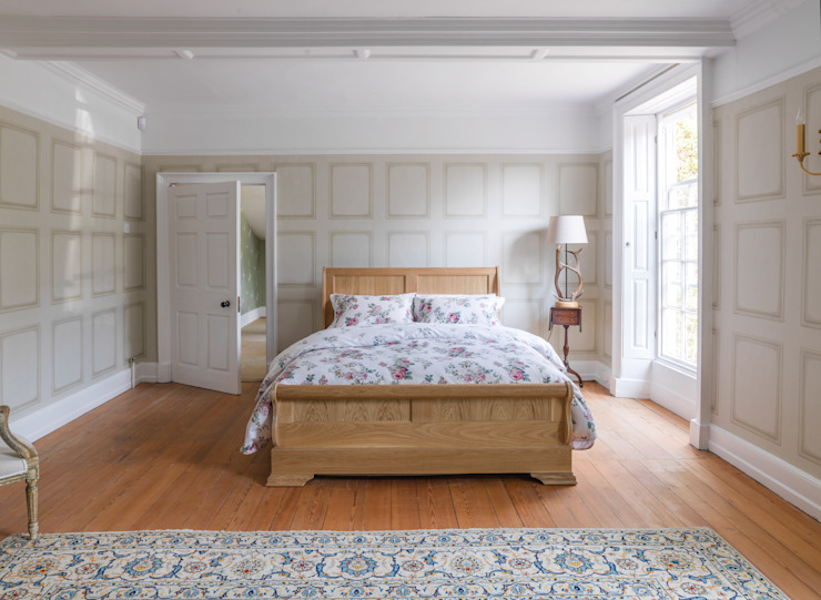 Sleigh Bed Low Cuartos de estilo clásico de THE STORAGE BED Clásico