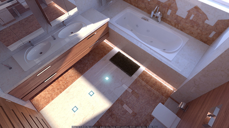 Ванная комната минимализм Ванная комната в стиле минимализм от Architoria 3D Минимализм