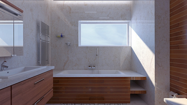 Minimalist style bathroom by Architoria 3D Minimalist