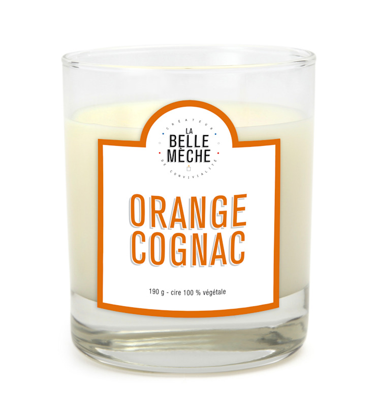 Bougie parfumée Orange Cognac par LA BELLE MÈCHE Éclectique