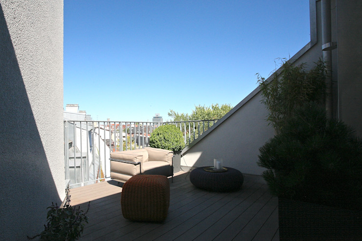 Roof Terrace tredup Design.Interiors Modern Terrace