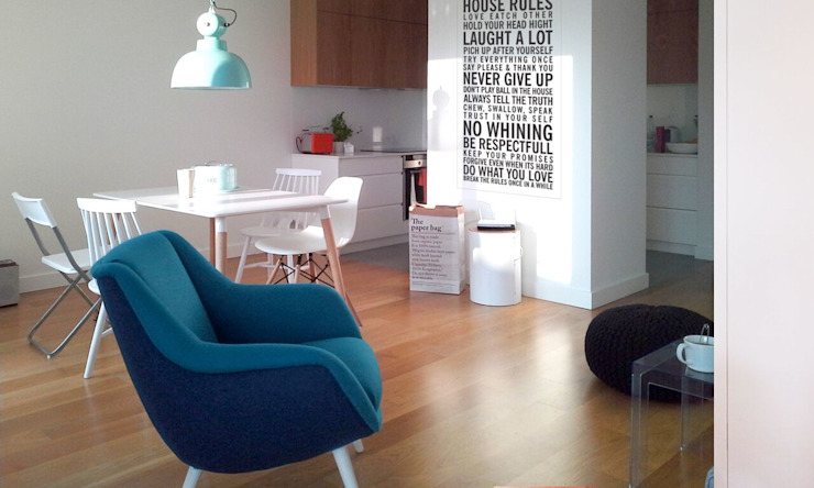 wnętrza nisza Skandynawski salon od NISZA DESIGN Skandynawski