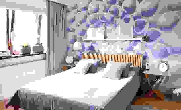 wnętrza nisza Skandynawska sypialnia od NISZA DESIGN Skandynawski