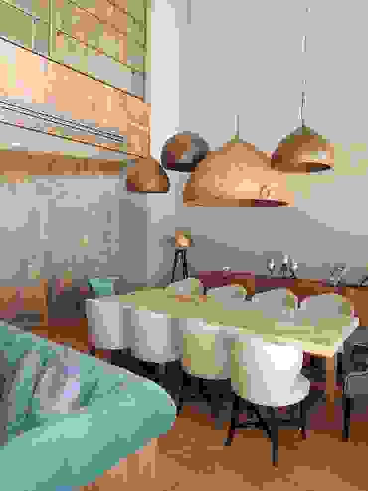A project in İzmir, Turkiye. - İzmir'de uygulaması bize ait bir projenin salonundan bir kare. Modern Yemek Odası Visage Home Style Modern